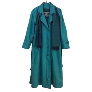 London Fog Teal Trench Coat